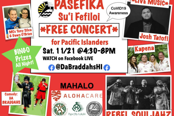Pacific Islanders, Hawaii's Hardest Hit by CoVID, Fight Back with Concert 11-21-2020