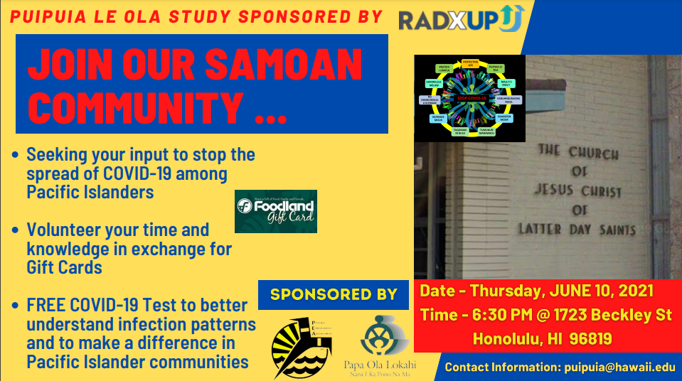 Research Study Outreach Event for the Samoan Community